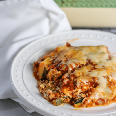 This Homemade Zucchini Lasagna is sure to get more greens into your family's diet!