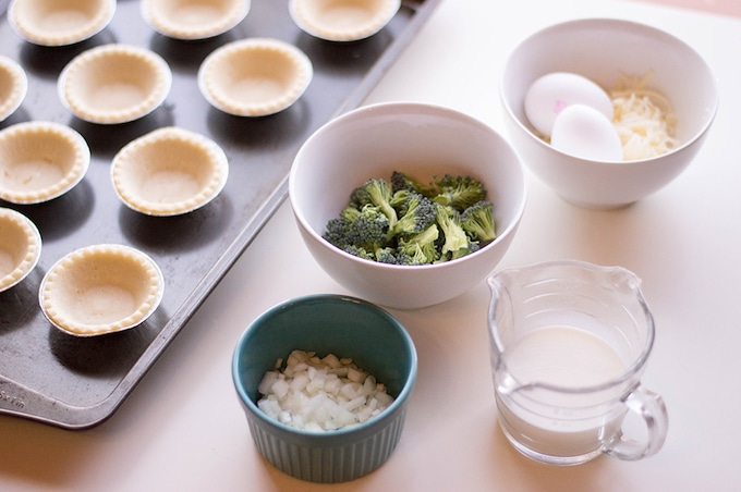 What you'll need to make broccoli and cheese quiche
