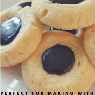 featured image for thumbprint cookies with chocolate icing