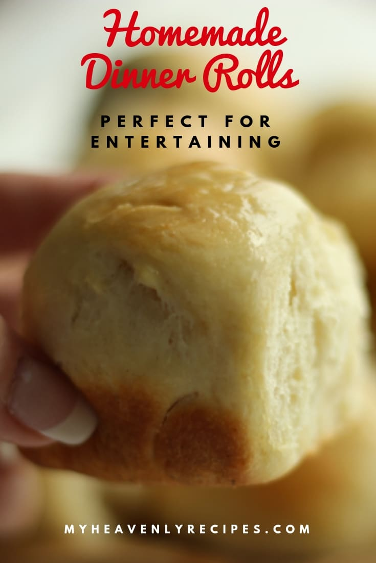 Homemade dinner rolls can make any dinner better!  A delicious side of bread is the key to making your holiday meal complete. #rolls #homemade #thanksgiving #christmasdinner @heavenlyrecipe