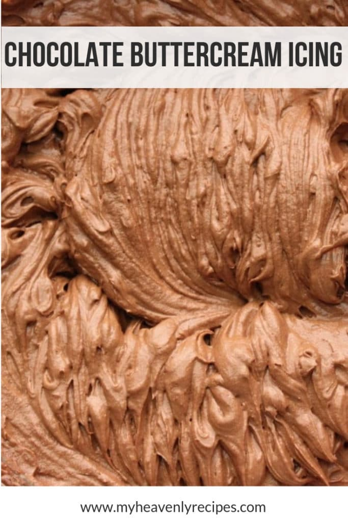 Chocolate Buttercream Icing - myheavenlyrecipes.com featured image