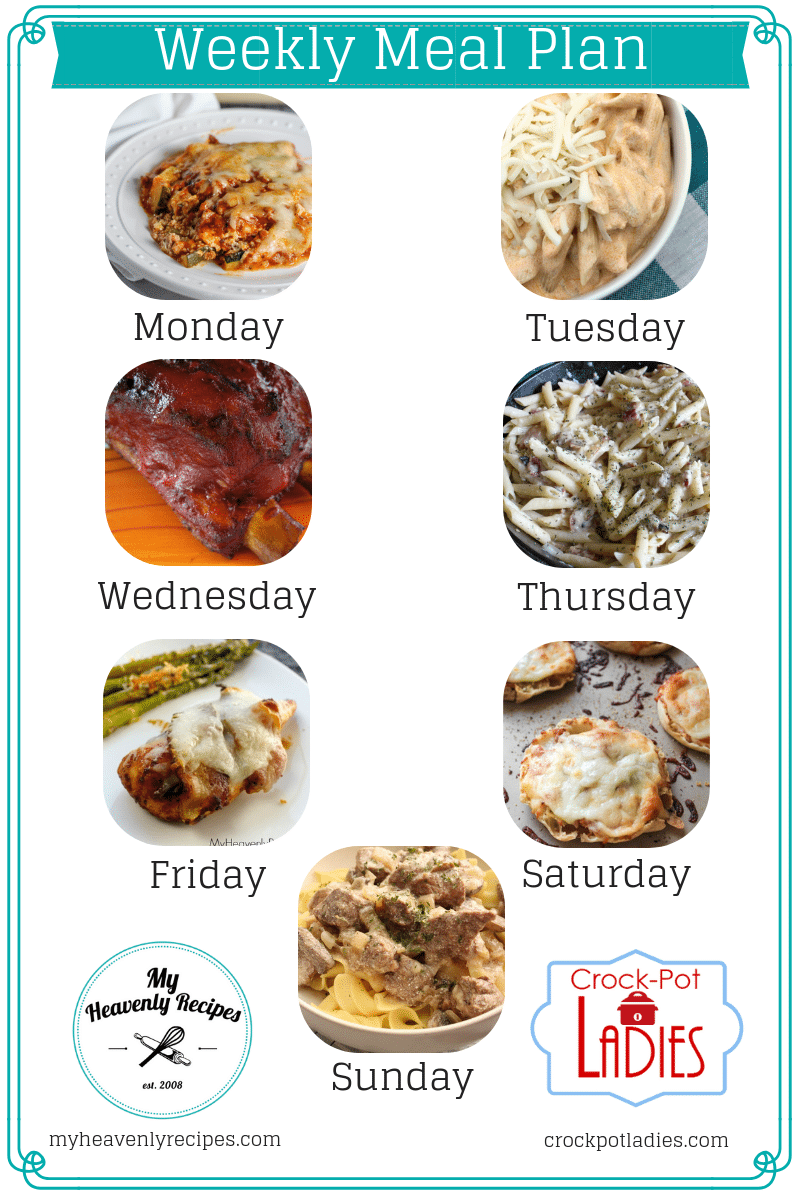 The Recipe Club allows you to receive 7 dinner recipes every week and includes the printable shopping list as well as bonus recipes for the week! #recipe #club #mealplan #myheavenlyrecipes