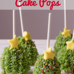 Christmas Cake Pops with Text