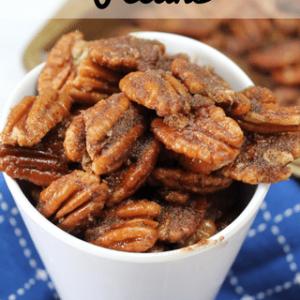 Cinnamon Pecans + Recipe Video