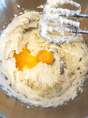 eggs added into cookie dough recipe
