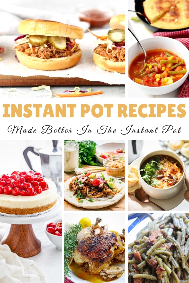 Instant Pot Recipes are all the rage! I will say that these Instant Pot Recipes are made better in the instant pot! Give them a try this week! #instantpot #pressurecooker #recipes #myheavenlyrecipes