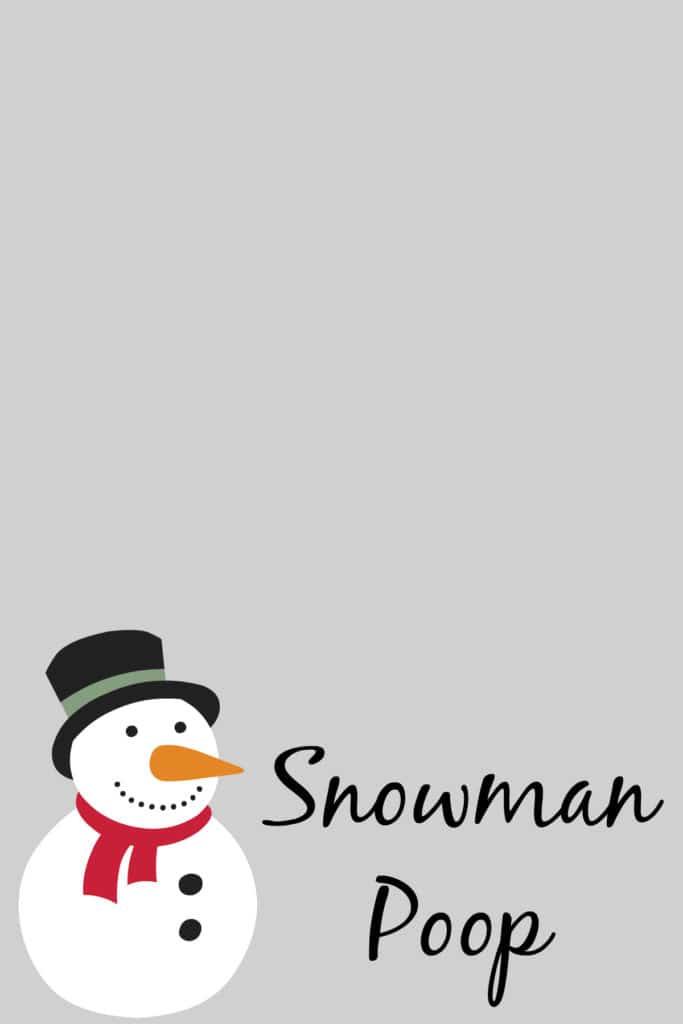 snowman poop free printable