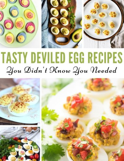 deviled egg recipes featured image for myheavenlyrecipes.com