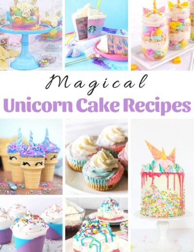 magical unicorn cake recipes featured image