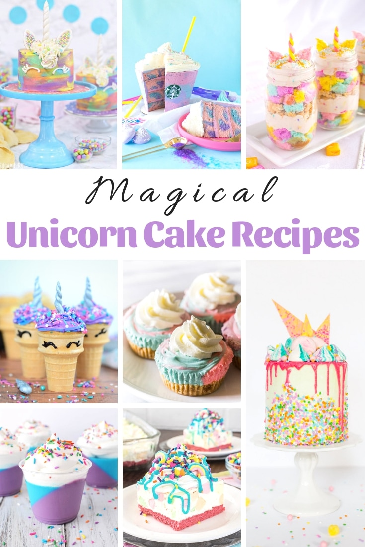 Unicorn Cake and desserts are all the rage right now for girls of all ages. Recreate your very own with these Magical Unicorn Cake Recipes! #MyHeavenlyRecipes #Unicorn #Cakes #Dessert