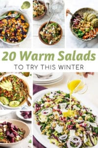 warm salad featured image for myheavenlyrecipes.com