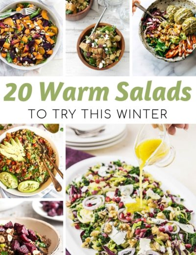 warm salad featured image for myheavenlyrecipes.com