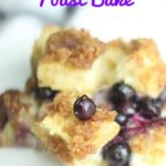 featured image for blueberry french toast casserole recipe