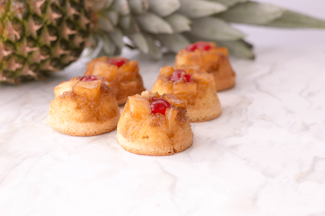 mini pineapple upside down cakes with pineapple