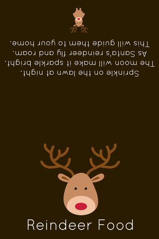 reindeer food printable label