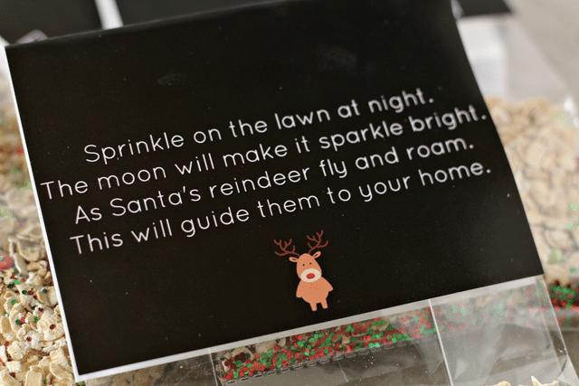 oats, sprinkles, glitter, reindeer food poem