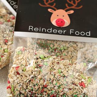 reindeer food vertical close up shot