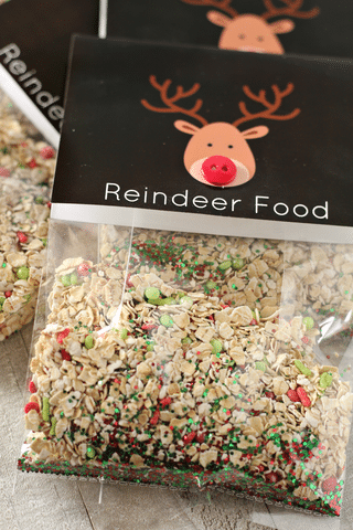 reindeer food vertical close up shot