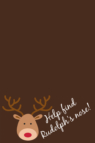 printable reindeer label