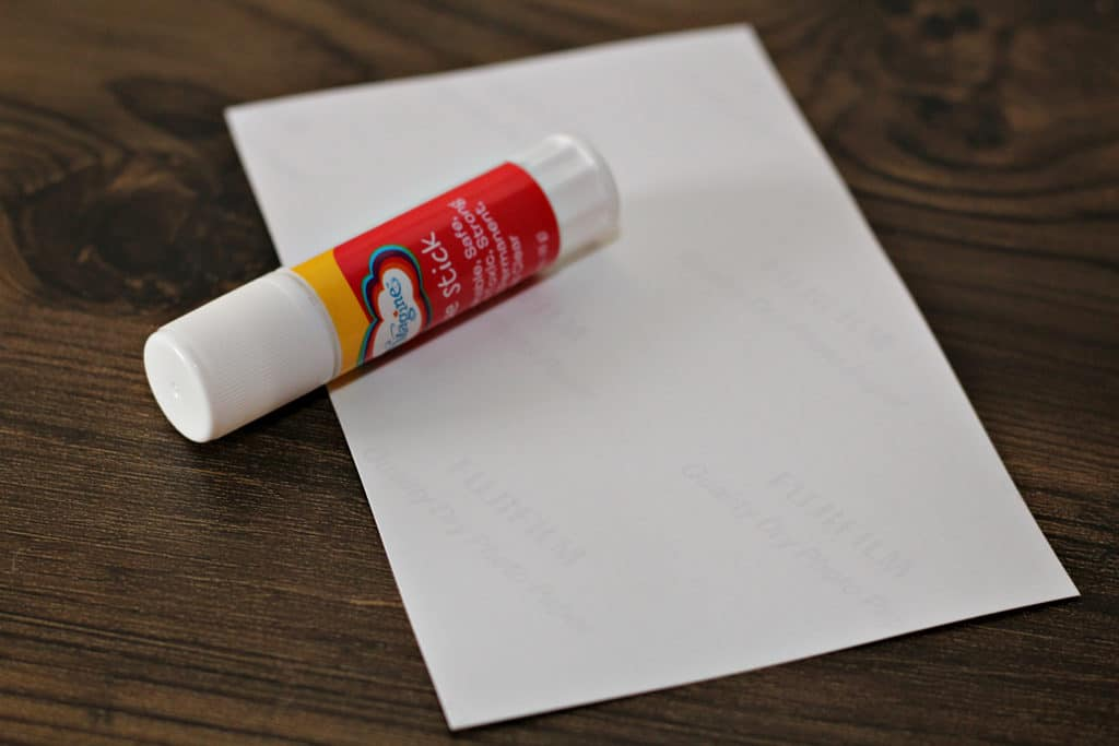 stick glue, printable label