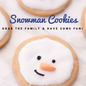 snowman cookies with text