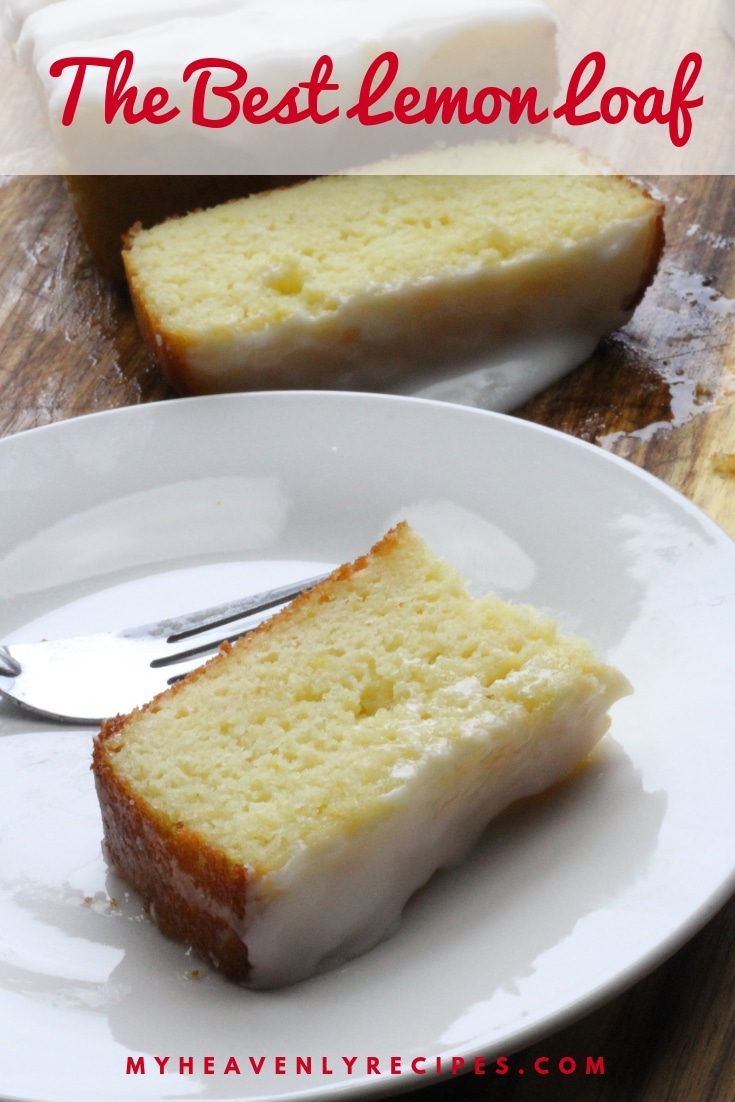 The Best Glazed Lemon Loaf - Have you ever been to your local Starbucks and gotten one of those slices of Lemon Loaf? This recipe is pretty much identical to the Starbucks Lemon Loaf! The hubby had a slice one afternoon and has been hooked. But, for the price he paid, I can make an entire loaf at home! #MyHeavenlyRecipes #Starbucks #CopyCatRecipe #Lemon #Bread #Dessert