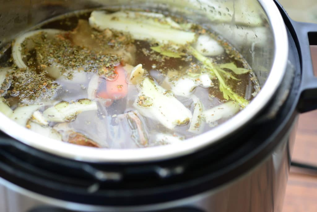 chicken broth in the pressure cooker