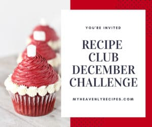 recipe club december challenge santa hat cupcakes