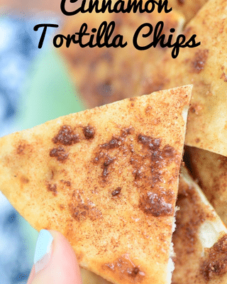 cinnamon tortilla chips with text