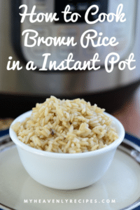 instant pot brown rice with text