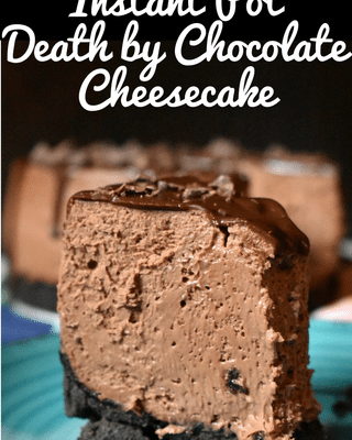 instant pot chocolate cheesecake 9