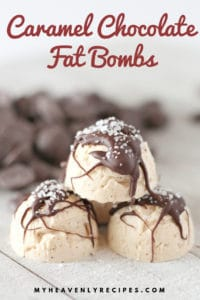 salted caramel fat bombs with text