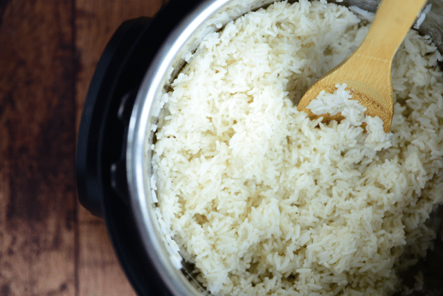 white rice in an instant pot