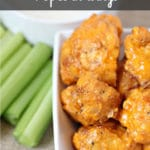 Buffalo Cauliflower Popcorn Wings