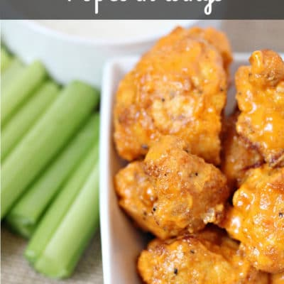 Buffalo Cauliflower Popcorn