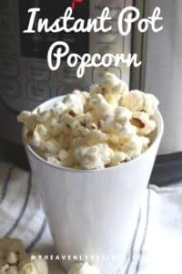 instant pot popcorn recipe for pinterest