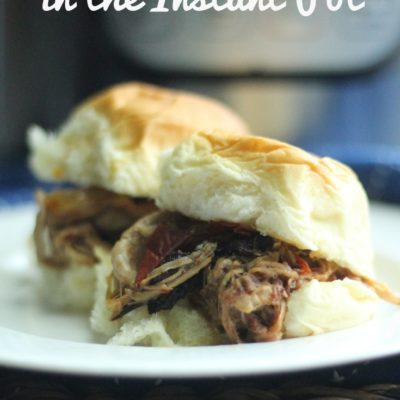 pulled pork sliders in the instant pot featured image
