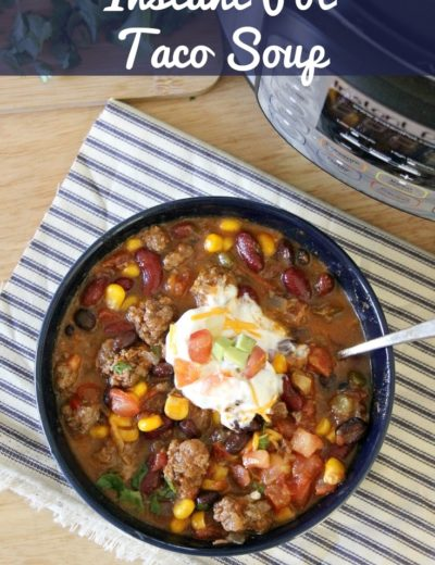 instant pot taco soup featured image