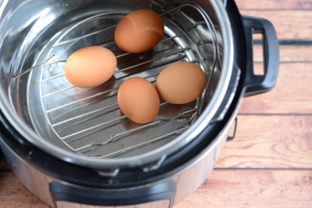eggs in the Instant Pot to make hard boiled eggs