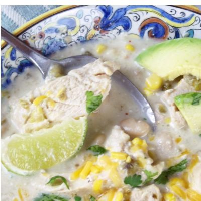 slow cooker white chicken chili featured image