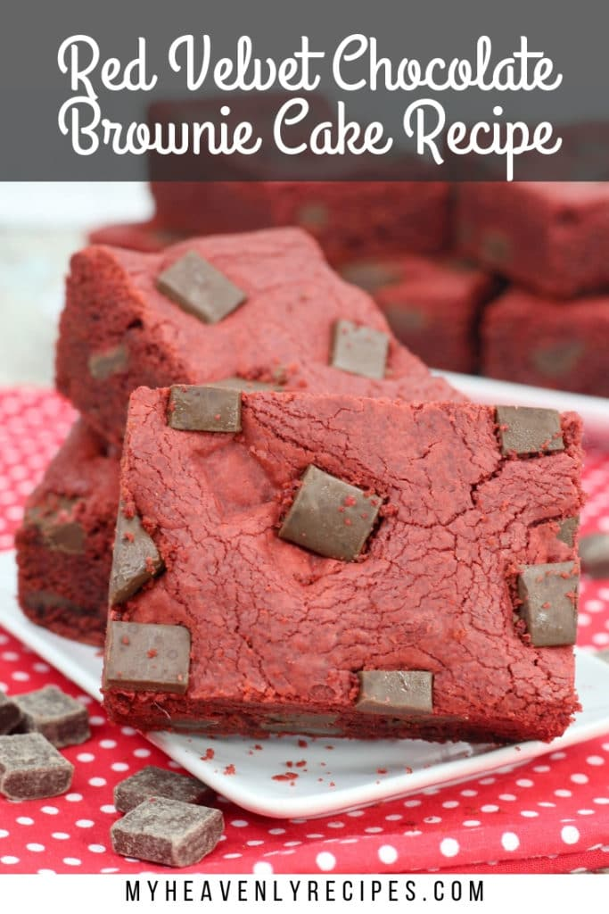 red velvet chocolate brownie cake recipe