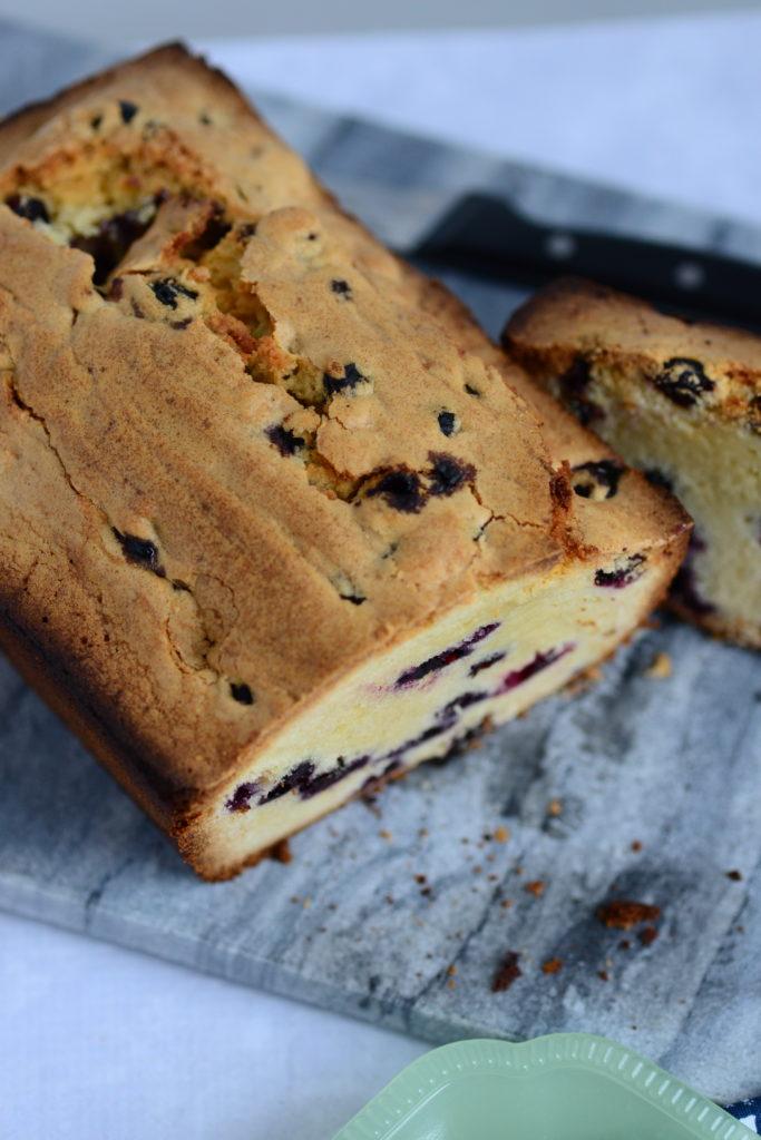 blueberry pound cake loaf