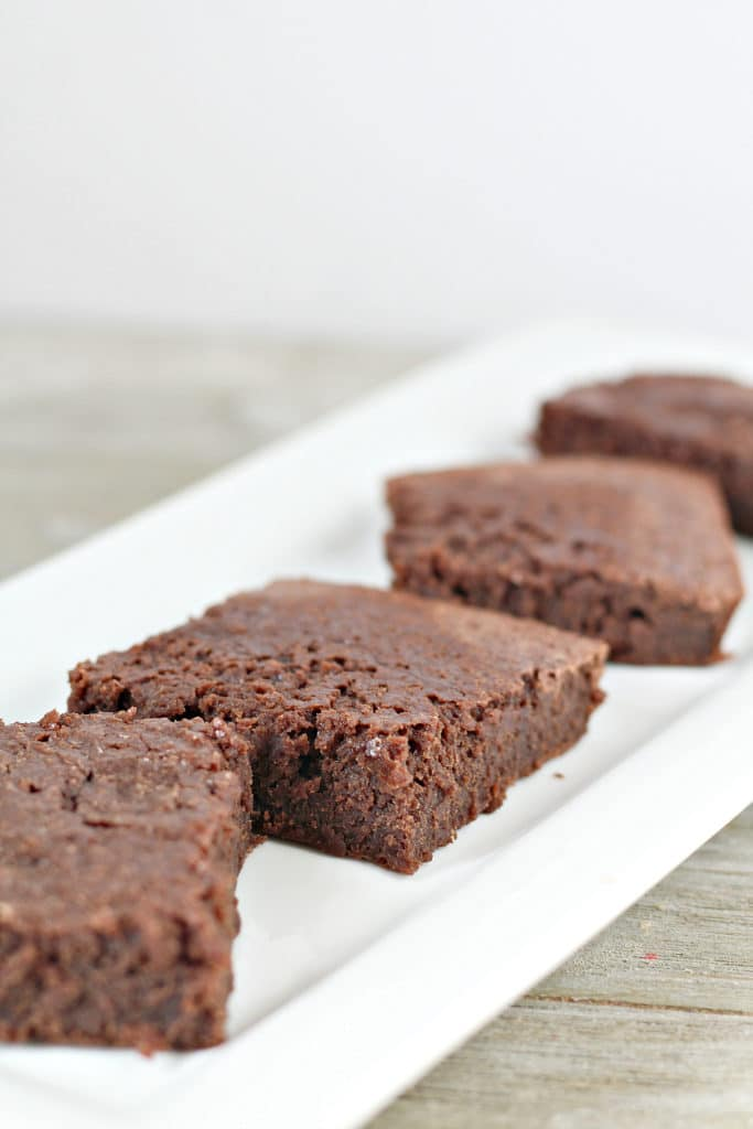 healthier brownies on a plate