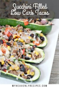zucchini filled low carb tacos