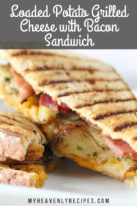 loaded potatoe grilled cheese with bacon sandwich