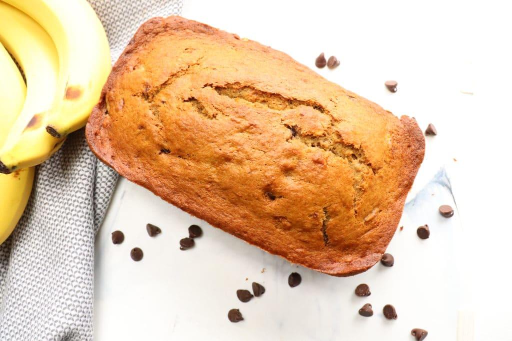 double chocolate chip banana bread