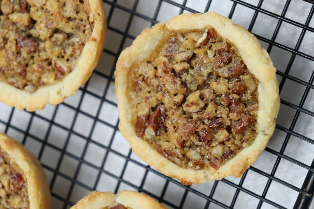 pecan tart closeup
