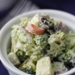 Broccoli Apple Salad with Avocado Dressing + Video