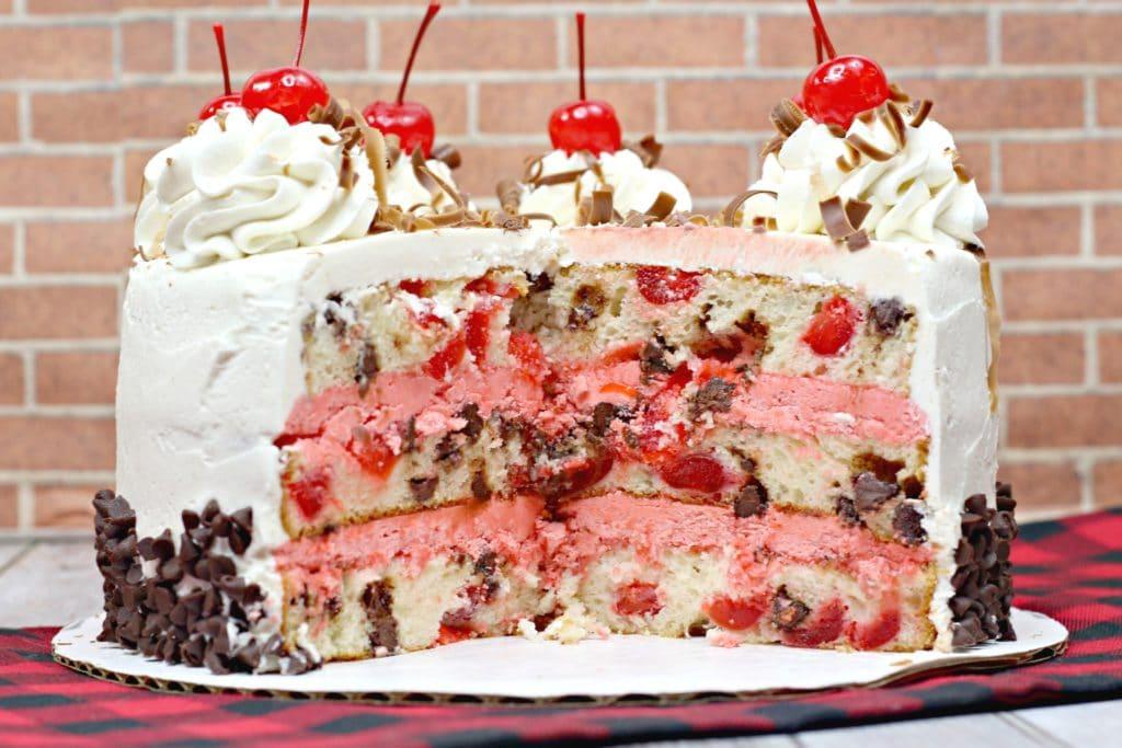 Cherry Garcia Chocolate cherry cake