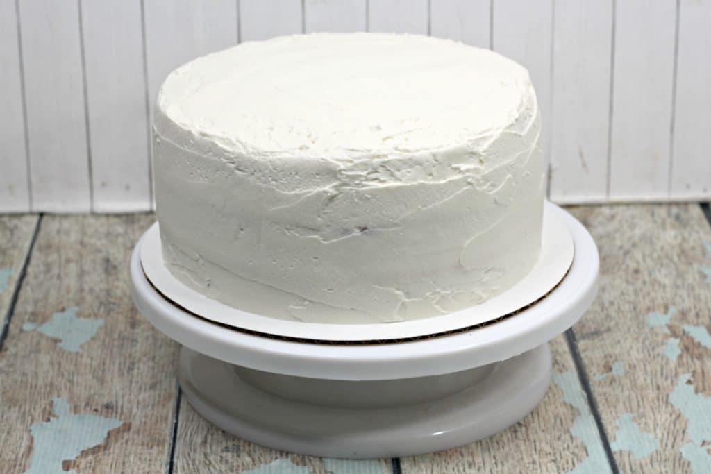 cake iced with white frosting